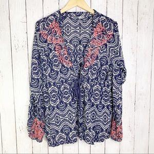 {Athleta} Ikat Embroidered Swim Tunic Cover-Up